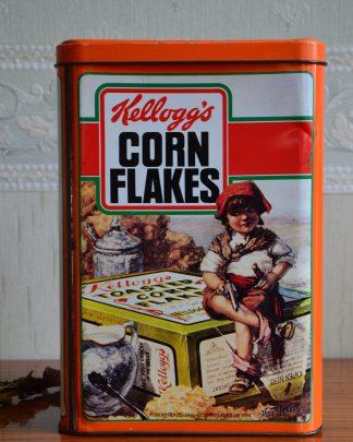 Boite en métal Kellog's datant de 1987, boite spécial anniversaire de la marque.