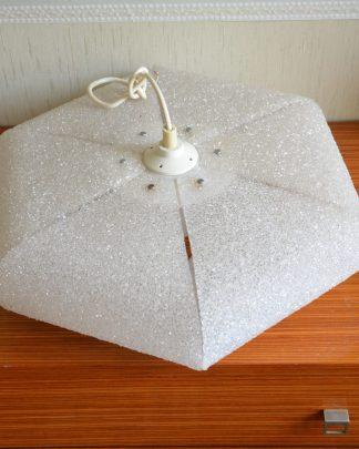 suspension vintage octogonale en billes transparentes en plastique,