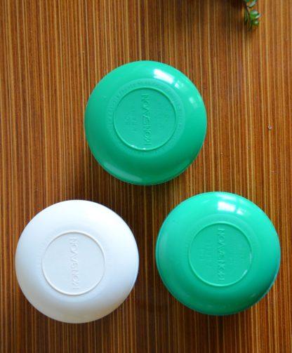 Bol à raser Monsavon en plastique vert ou blanc, 150g