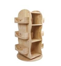 Revolving Wooden Bookcase - MesaSilla Canada