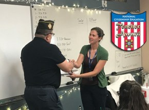 VFW Post 1760 2017 Teacher of the Year