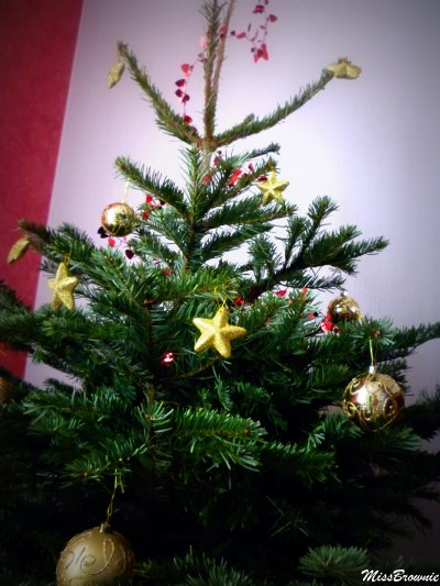 sapin version light rouge et or