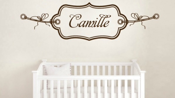 stickers personnalisé prénom chambre bébé