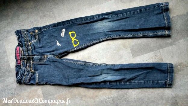 customisation jean fille