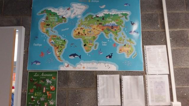 planisphere-animaux-poster école