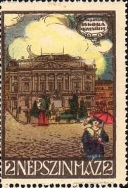 Budapest - Népszínház - levélzáró - 1900-s évek eleje