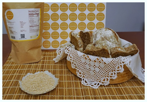 Greek Traditional Baker's Yeast With Hops For Leaven From Drama Make Homemade Bread Or Pastry Back Photo