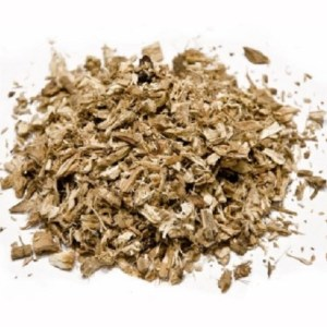 Dried Althaea Officinalis, Marsh Mallow Root Herb In Slices