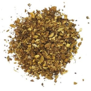 Dried Arctium Lappa, Greater Burdock Root Herb In Slices