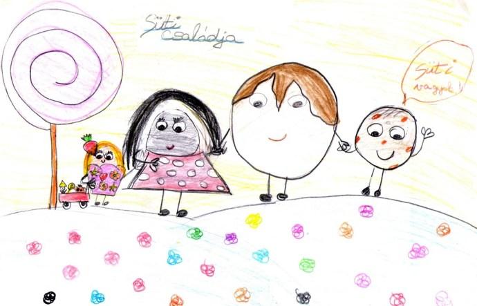 Szentannai Laura_Süti és családja_Bata Gabriella