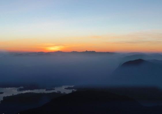 Lever de soleil à l'Adam's Peak