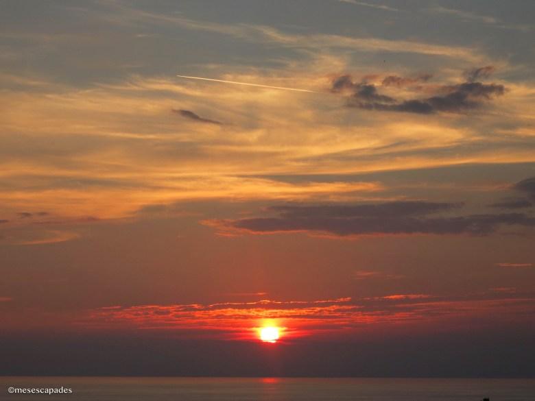 Un coucher de soleil splendide aux cirque Terre