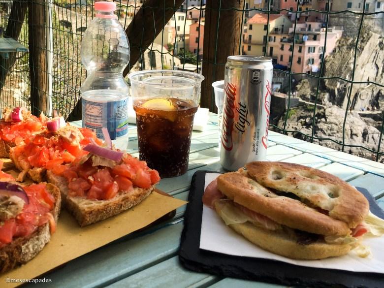 Déjeuner avec vue sur Manarola