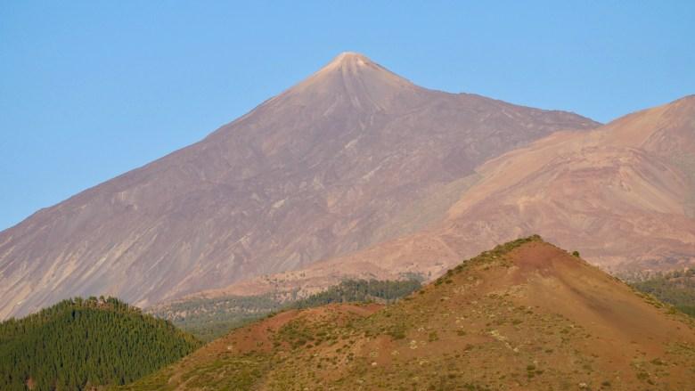 Coucher de soleil sur le pic du Teide depuis le Mirador del Cherfe