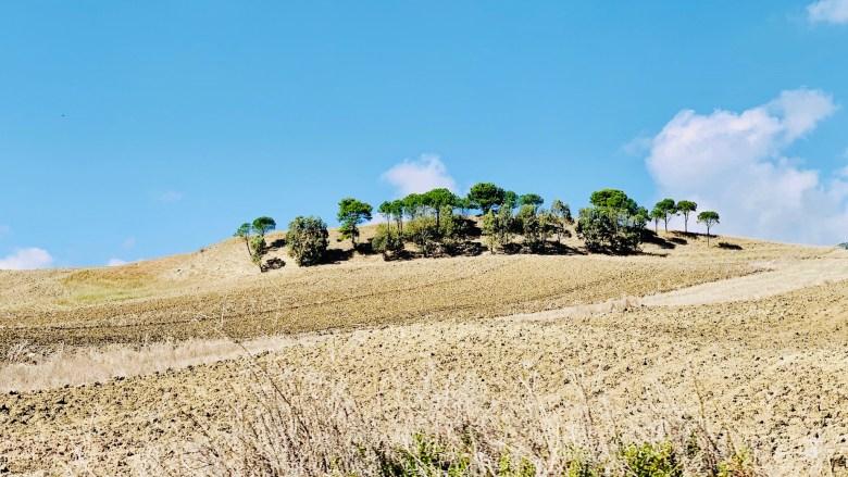 En route vers San Vito Lo Capo à travers la région de Trapani.