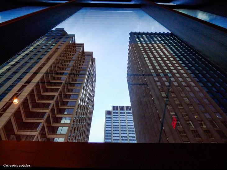 Vue sur les bâtiments depuis le MoMA