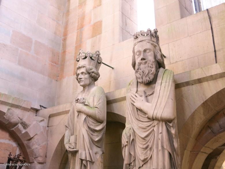 Les statues des rois de la cathédrale de Reims