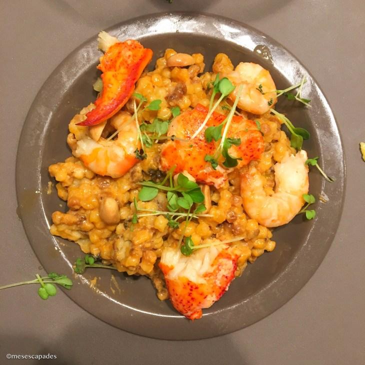 Risotto de la mer à l'Atelier, restaurant sympathique de Cabourg
