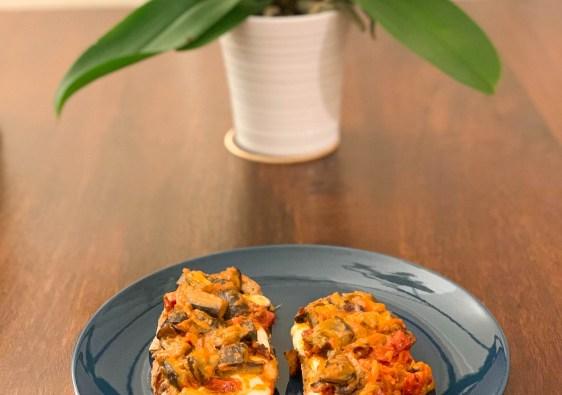 Tartines italiennes : aubergines et mozzarella