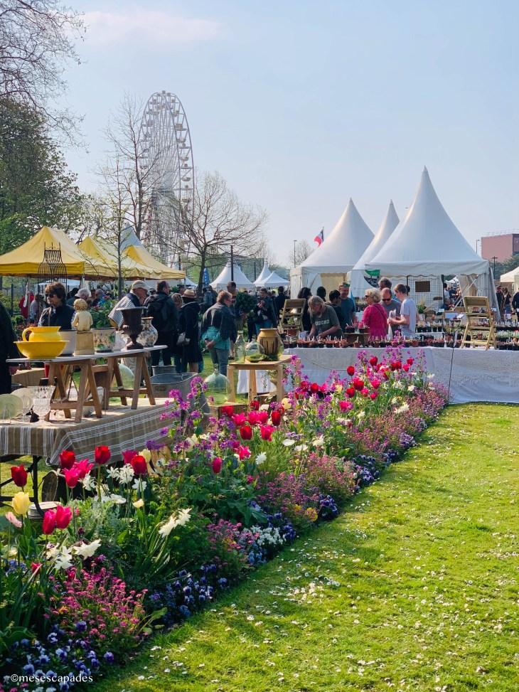 Le marché aux fleurs de Cabourg