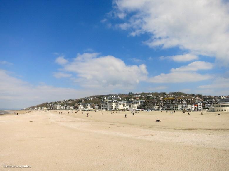La plage de Houlgate