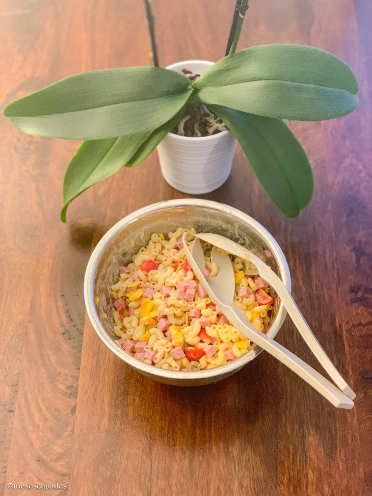 Recette de salade composée à base de coquillettes