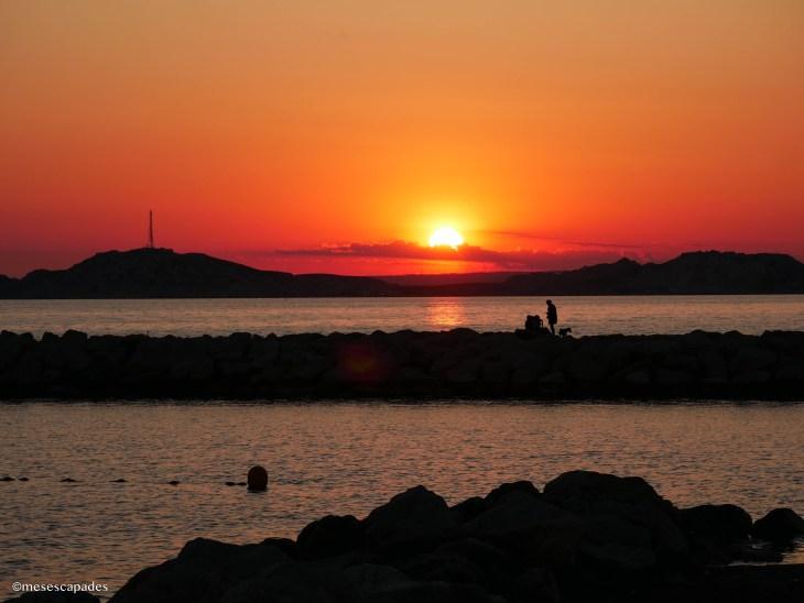 Coucher de soleil depuis la Pointe Rouge