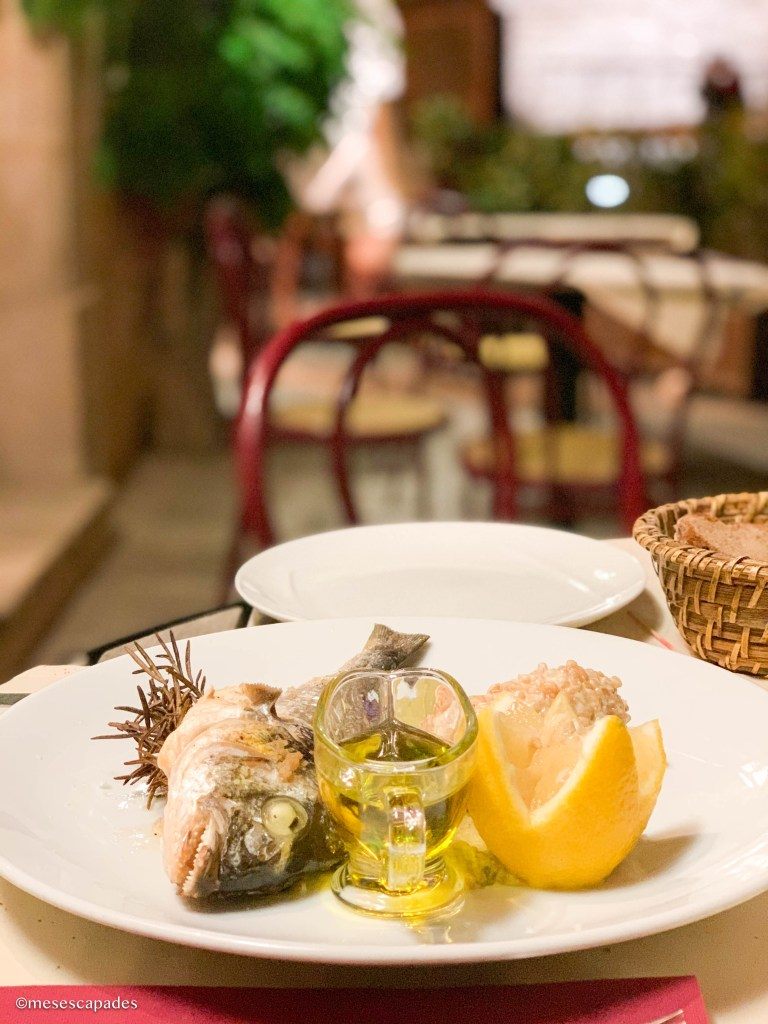 Les Cuisines du Château, poisson du jour et risotto d'épeautre