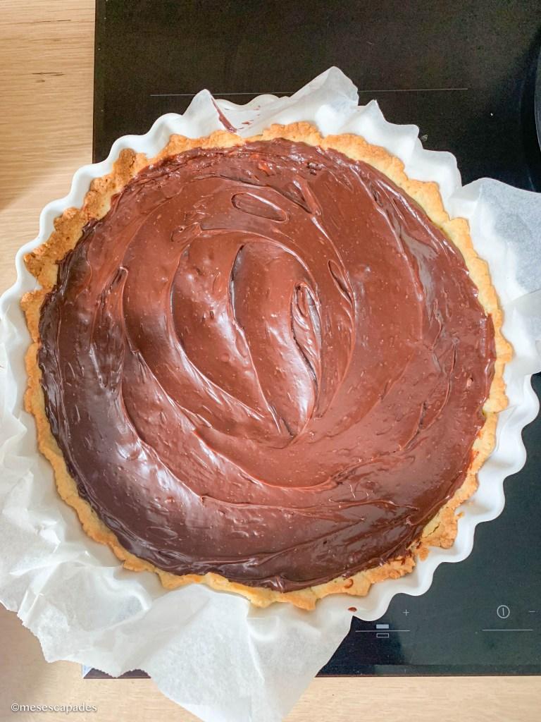 Recette de la tarte au chocolat au lait