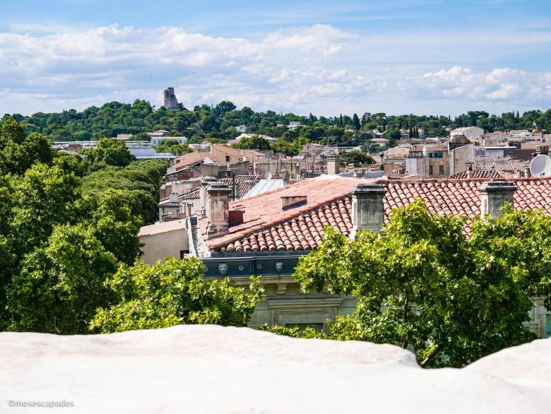 La vue sur la Tour Magne de Nîmes