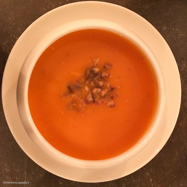 Soupe de potimarron et châtaigne