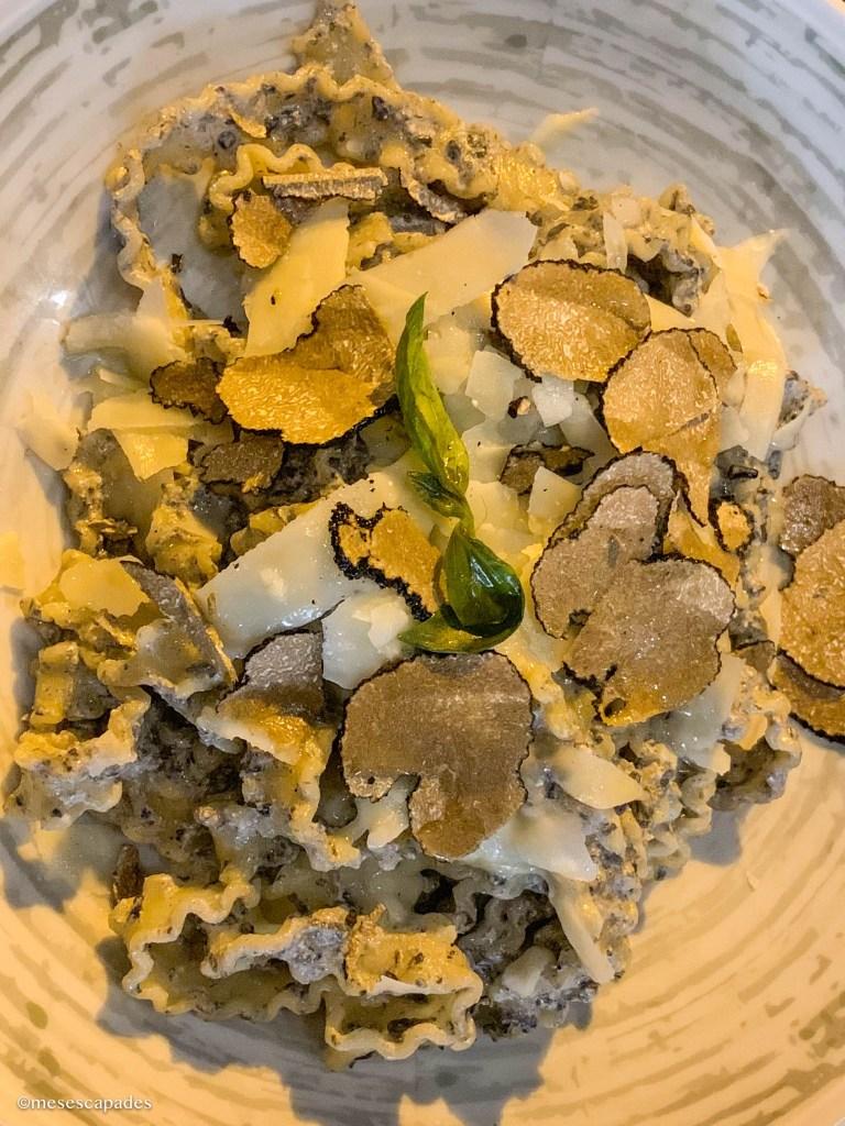 Pâtes à la truffe à La Corderie