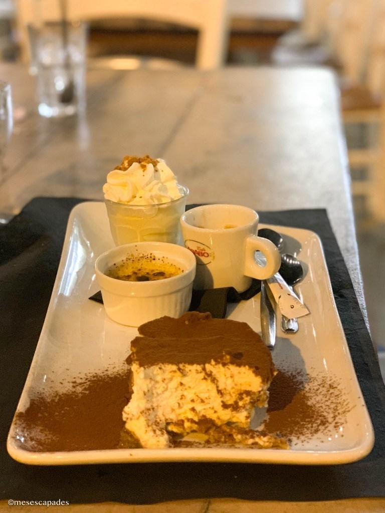 Café gourmand à La Corderie à Villefranche-sur-Mer