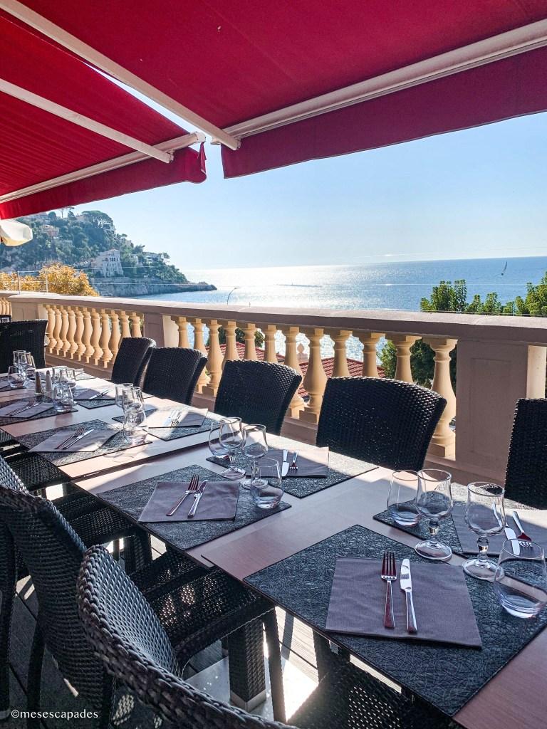 La terrasse du Saint-Paul à Nice