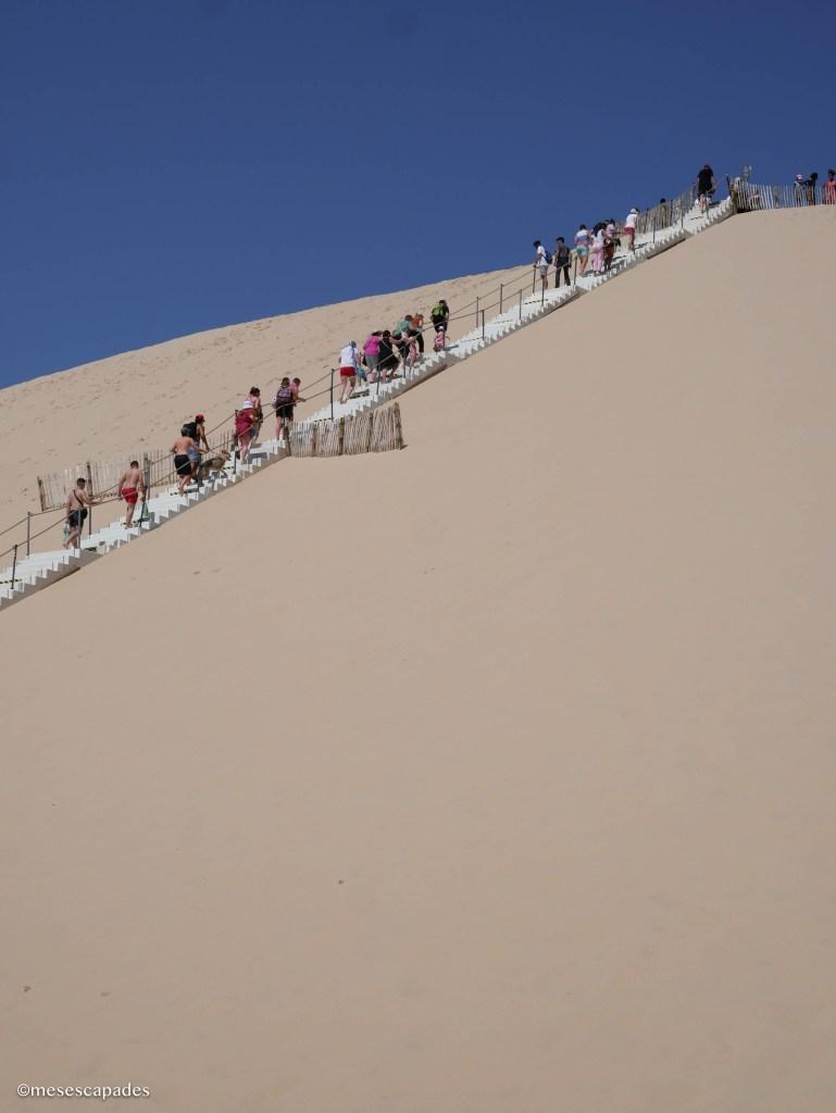 La montée de la Dune du Pilat