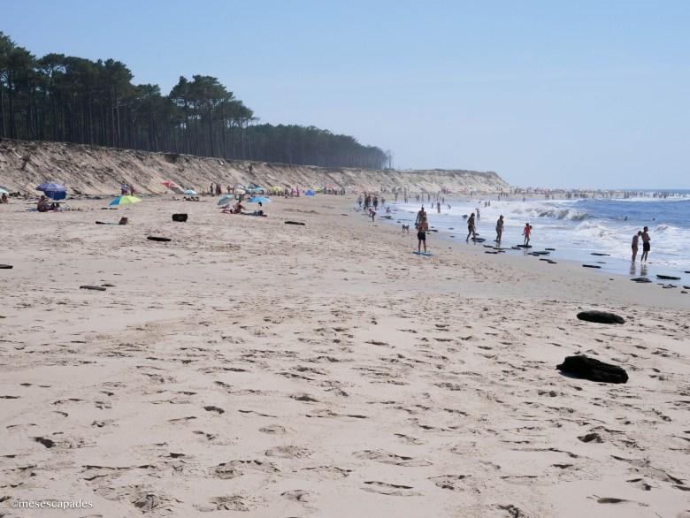 Sable blanc dans les plages océanes