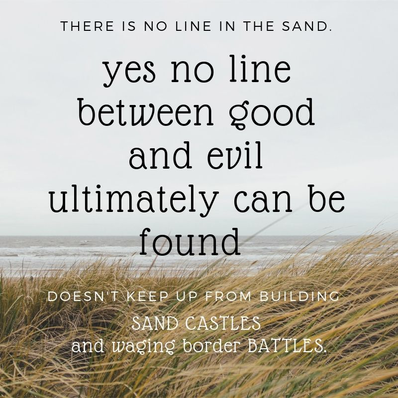no line in the sand