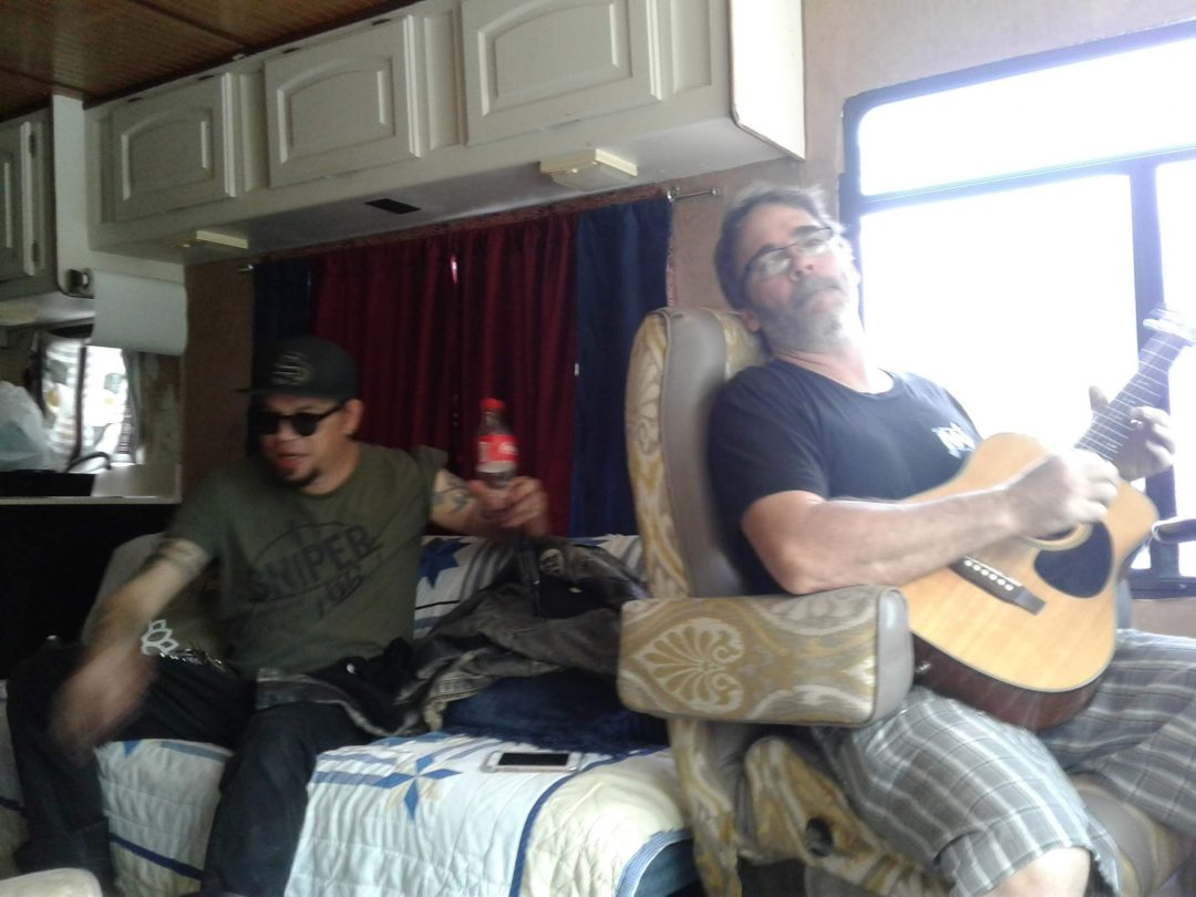 Paul Steiner (r) and Matt Clark (l) Messing Around at the Sweet Party in Utopia Texas
