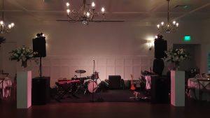 Drum set on the wedding stage
