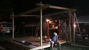 David Robinson (secret weapon) worked his tail off helping us build this. All the gratitude to him! Dinner and beer anytime!