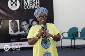 Deputy Minister for Tourism, Culture and Creative Arts, Abla Dzifa Gomashie gracing MESH Confab and addressing participants