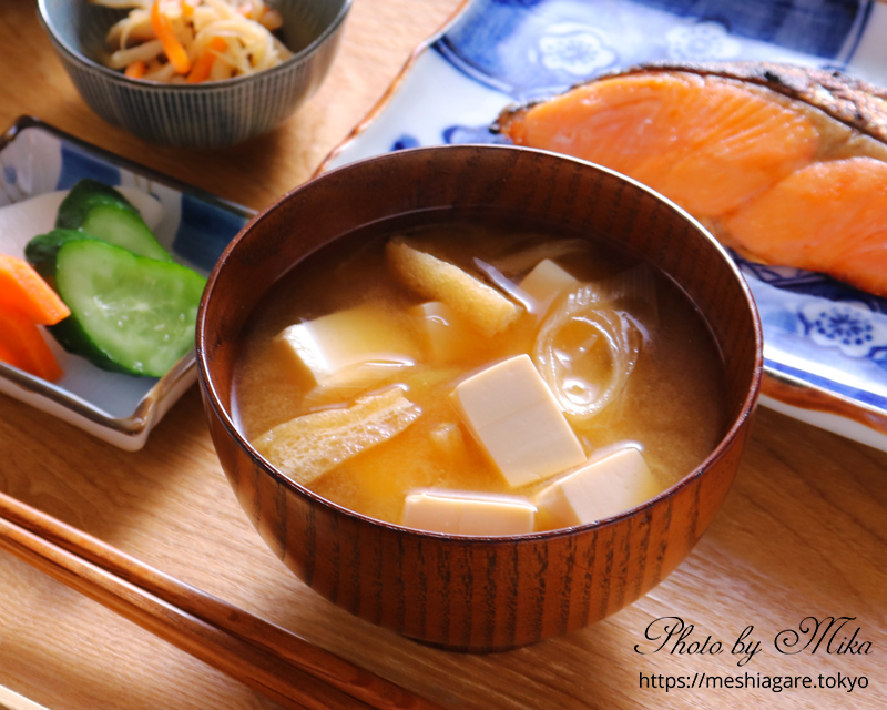 Tofu and Aburaage Miso Soup