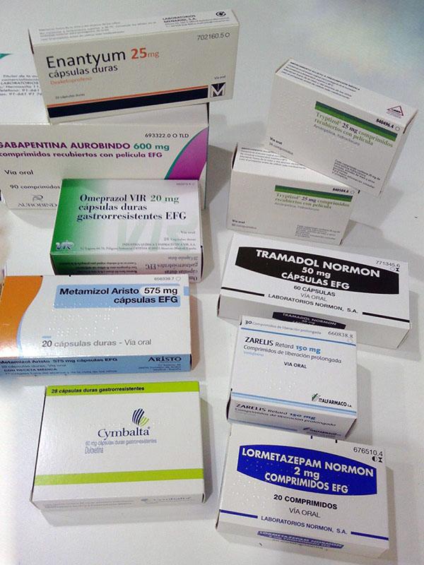 Fármacos que tomaba antes