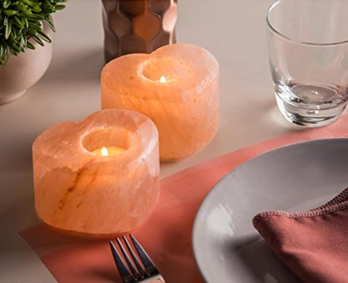 Heart Salt Crystal Candle Holder