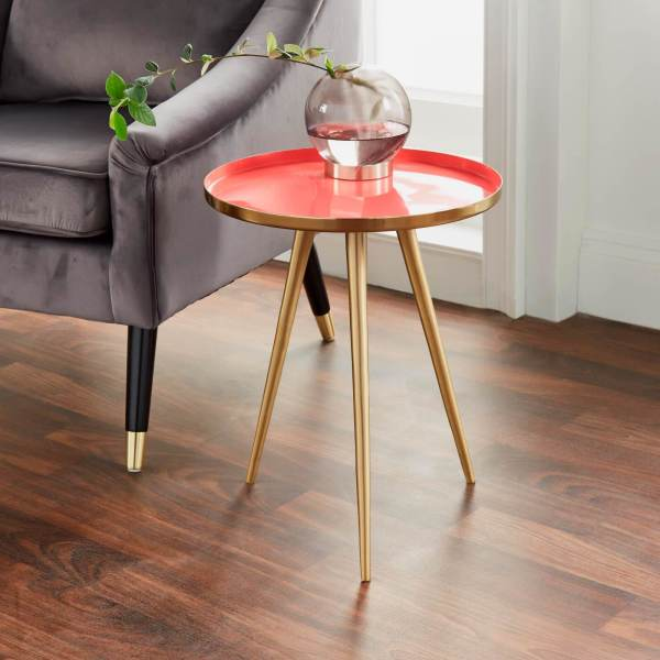 Coral Gold Side Table