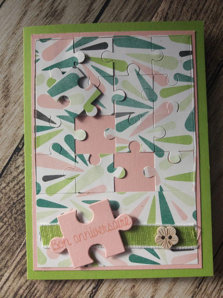 Chic tropical, découpes puzzle