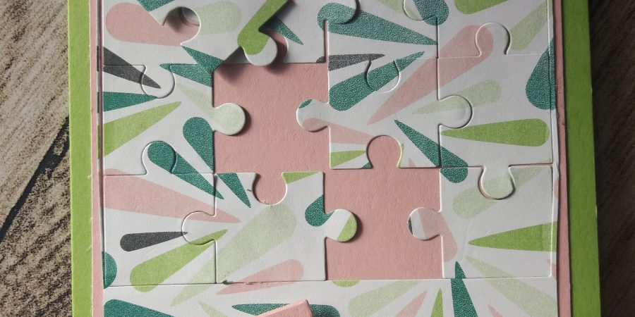 Chic tropical, découpes puzzle