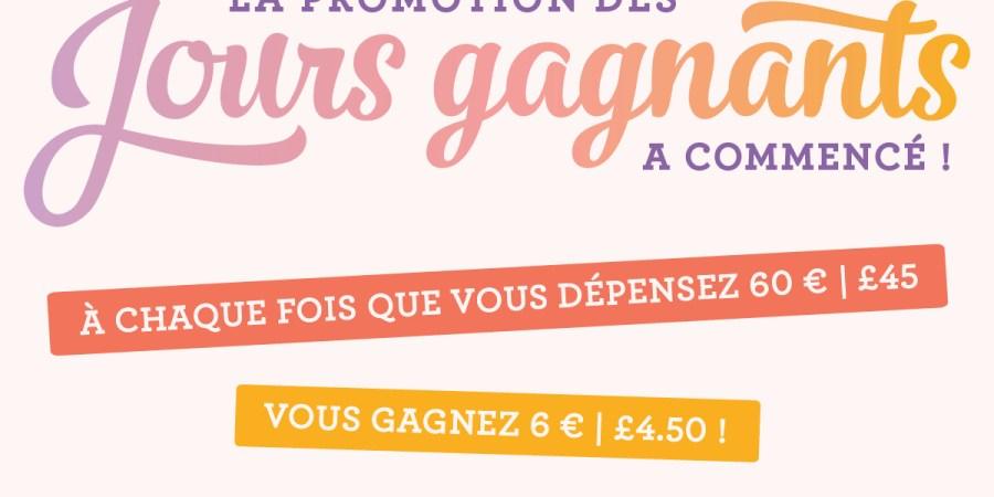 promotion stampin up bon d achat offert