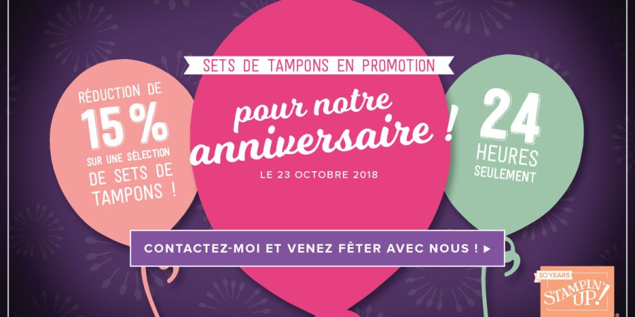30 ans Stampin up