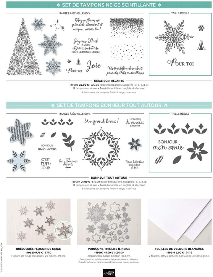 Stampin'Up! Vitrine de flocons